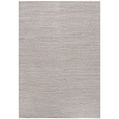Alfombra handwoven Art 140x200 cm blanco y plata