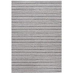 Alfombra handwoven Art 140x200 cm blanco y negro