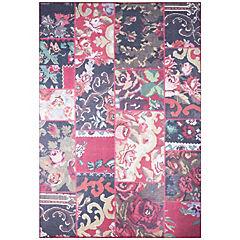 Alfombra Kyle Flowers 80x240 cm rojo