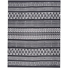 Alfombra Kelim Ethnic 140x200 cm negro