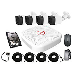 Sistema xvr CCTV de 4 cámaras bala hd