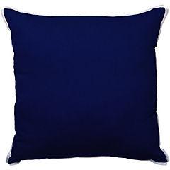 Cojín poliéster-algodón blue lino 43x43 cm