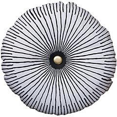 Cojín poliéster-algodón round button 44x44 cm