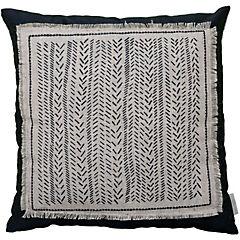 Cojín poliéster-algodón patch rustico 44x44 cm