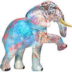 Elefante multicolor resina