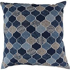 Cojín piedras azul con beige 60x60 cm