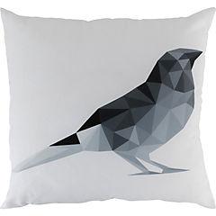Cojín pájaro geométrico gris 60x60 cm