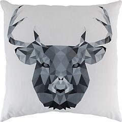 Cojín ciervo geométrico gris 60x60 cm
