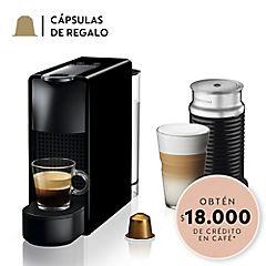 Cafetera Essenza mini 0,6 litros negro + Aeroccino