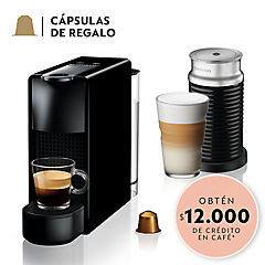 Cafetera Essenza mini negra + Aeroccino