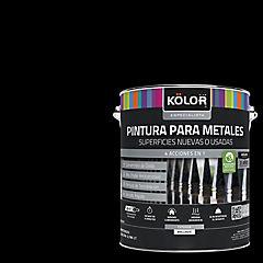 Esmalte sintético base agua triple acción secado 15 minutos negro gl