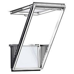 Combo ventana balcón p1-p2+ tapajunta + cortina beige SK10 - P04