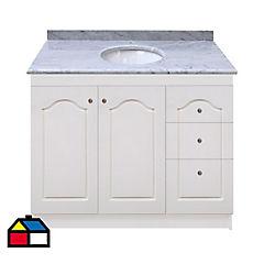 Vanitorio mármol blanco 92x50x87 cm