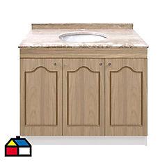 Vanitorio mármol  3 puertas madera 92x50x87 cm