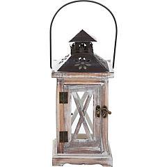 Porta velas madera 57 cm gris