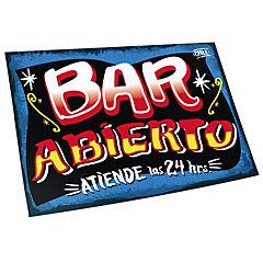 Cartel bar abierto azul
