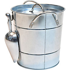 Hielera metal con pala plata