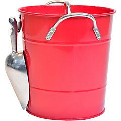Hielera metal con pala roja