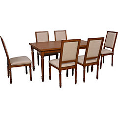 Juego de comedor 150x90x75 cm 6 sillas