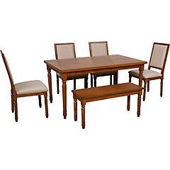 Juego de comedor 150x90x75 cm 4 sillas+banca