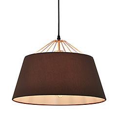 Lámpara de colgar Cooper pantalla cobre E27 80W