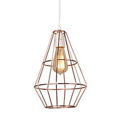 Lámpara de colgar Prisma Cobre E27 80W