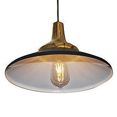 Lámpara de colgar Cooper Hat negro y oro E27 80W