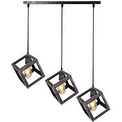Lámpara de colgar 3 Cubos vintage E27 80W