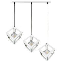 Lámpara de colgar 3 Cubos blanco E27 80W