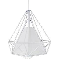 Lámpara de colgar Prisma pantalla blanco E27 80W