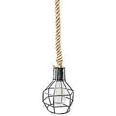 Lámpara de colgar Soga Reja E27 80W