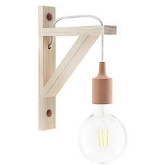Aplique escuadra madera 1 luz E27