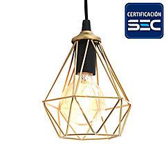 Lámpara de mesa geometrica dorado 12 W