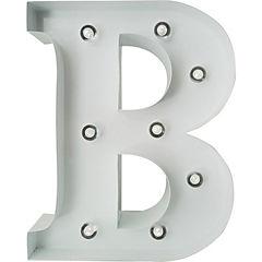 Letra Metálica Led B 20x25 cm