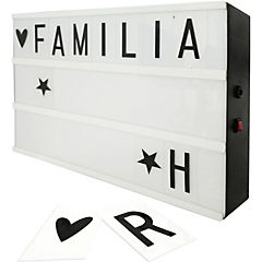 Caja luz letras 35x30 cm plástico