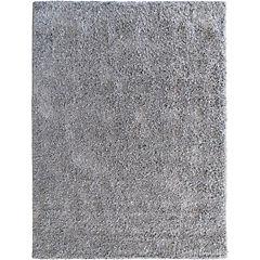 Alfombra shaggy lisa 150x200 cm gris