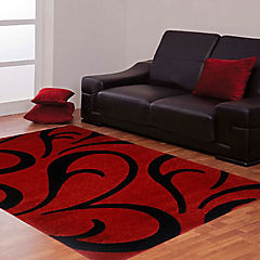 Alfombra frize carved 150x200 cm rojo