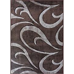 Alfombra frize carved 170x230 cm café