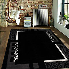 Alfombra frize carved 170x230 cm negro