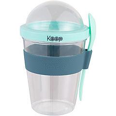 Vaso para yoghurt plástico 450 ml Gris 10x17 cm