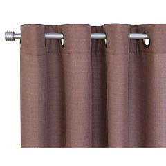Set de cortinas tela 220x140cm Mónaco café