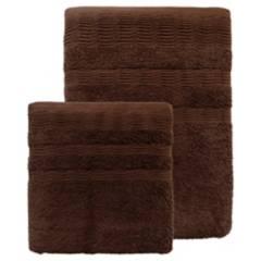 IDETEX - Set toallas 500g 2 piezas café