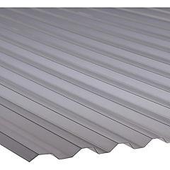 0,8mm x 1,1x2,0m Plancha policarbonato greca gris térmico Semisombra