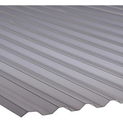 0,8mm x 1,1x3,0m Plancha policarbonato greca gris térmico Semisombra