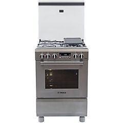 Cocina a gas 4 quemadores 57 litros inox