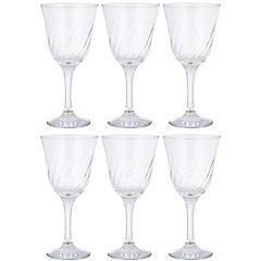 Set 6 copas vino blanco lirio