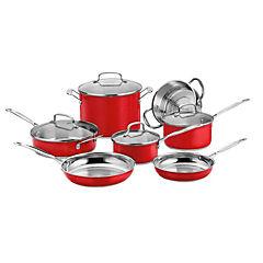 Batería chef rojo 11 piezas