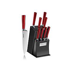 Set de cuchillos 11 piezas burdeo