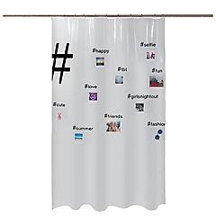 Cortina de baño Hashtag 180x200 cm