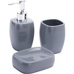 Kit de accesorios para baño 3 piezas Gris